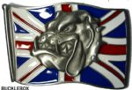 Spike Head - Union Jack - Belt Buckle + display stand. Product code EA3